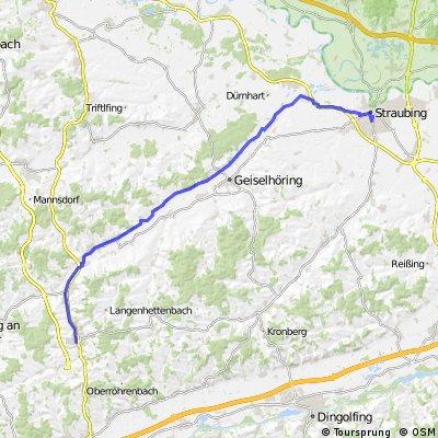 Ergoldsbach - Laabertalradweg - Straubing