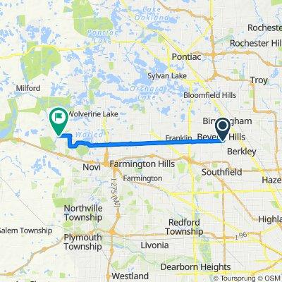 17319 W 13 Mile Rd, Southfield to 49438 Pontiac Trail, Wixom