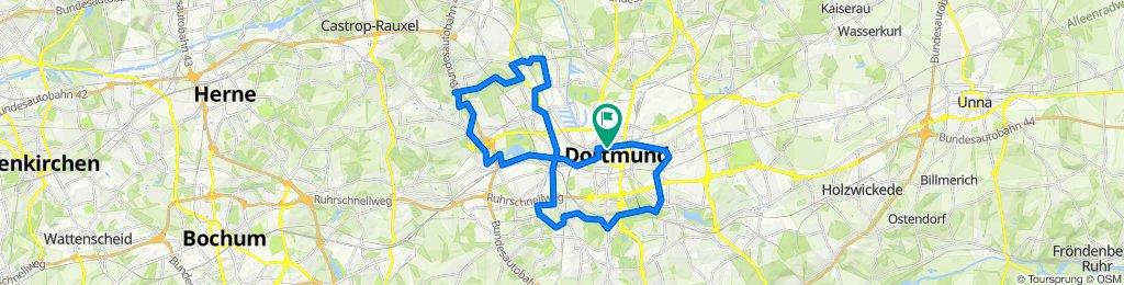 Borsigplatz - Bahntrassen - Emscherweg - Brunnen