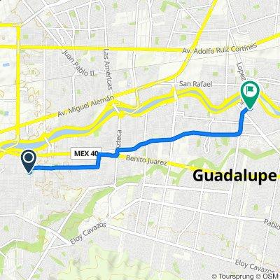 De Calle Mariano Jiménez 701-26, Guadalupe a Circuito de las Quintas S 234, Guadalupe
