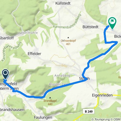 Route nach Weinberg 4–4A, Anrode