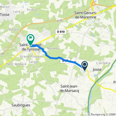 De 78–162 Route de Preuilhan, Josse à 902 Rue du Marensin, Saint-Vincent-de-Tyrosse