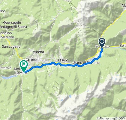 Fiemme cycle route