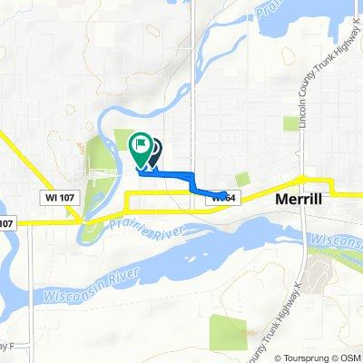 210 E Third St, Merrill to 305 Logan St, Merrill