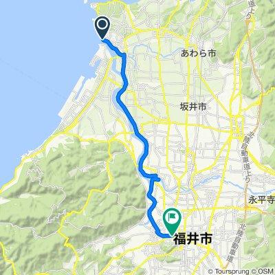 Kamome-dori Street, Sakai-Shi to 10, Yurakucho, Fukui-Shi