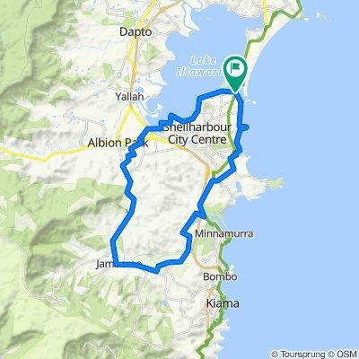 Jamberoo ride round Lake Illawarra