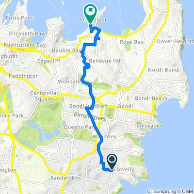 Arden Lane, Clovelly to 36 Wolseley Road, Point Piper
