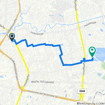 9/1 Soi Sukhumvit 52, Bangkok to 9 ซอยสนามกอล์ฟ ถนนศรีนครินทร์, Bangkok
