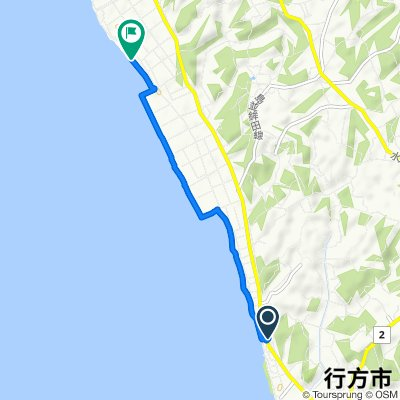 Route from 729, Aso, Namegata-Shi