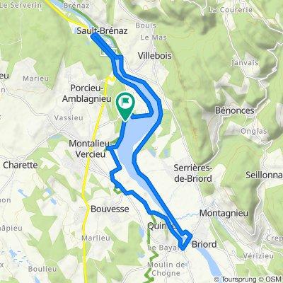 Le Tour de la Vallée Bleue en VAE sur TraceDeTrail.fr