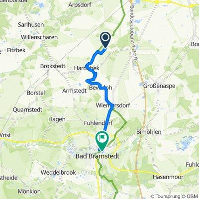 Route von Wiesenweg 2, Hardebek