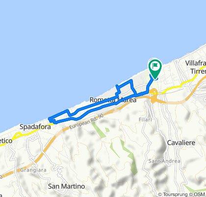 Percorso per Seconda Traversa Via Giampaolo 8/h–11/c, Rometta Marea
