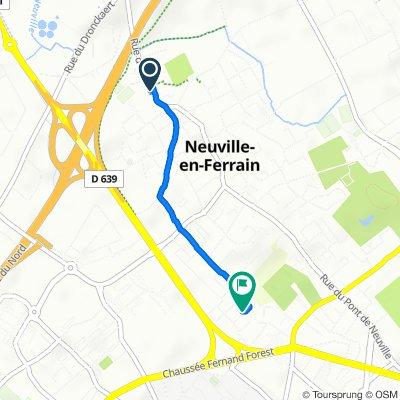 De 19 Rue d'Halluin, Neuville-en-Ferrain à 42 Allée Jean de Joinville, Tourcoing