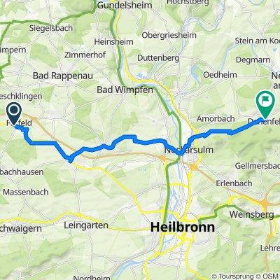 Leintalweg 3, Bad Rappenau nach Dekansgasse 2–8, Neckarsulm