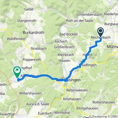 Oberland 2, Münnerstadt nach Tongrubenweg 17, Oberthulba