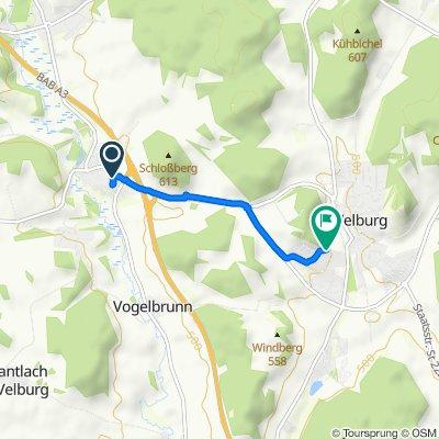 Sankt-Martin-Straße 28A, Velburg nach Zieglerweg 10, Velburg