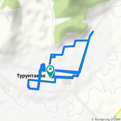 От Комсомольская улица 16, Турунтаево до Комсомольская улица 16, Турунтаево