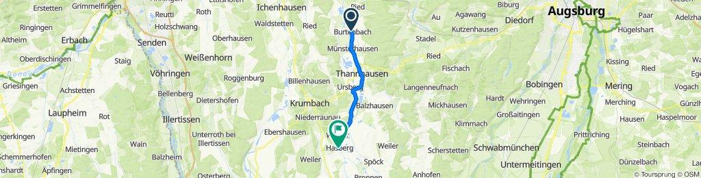 Hauptstraße 33, Burtenbach nach Ortsstraße 26, Kirchheim