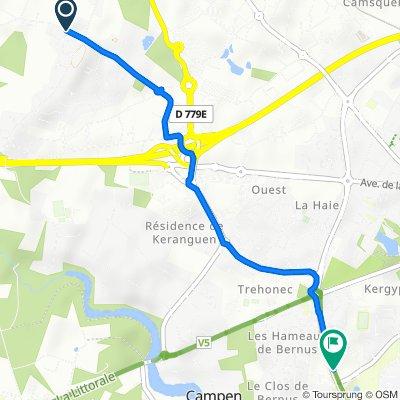De Route de Brementec, Ploeren à Boulevard de la Résistance, Vannes