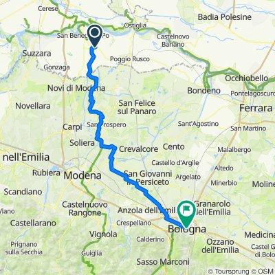 Quistello-> Bologna