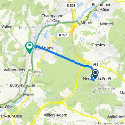 De 30 Rue Saint-Claude, Nerville-la-Forêt à 4 Rue du Général de Gaulle, Parmain