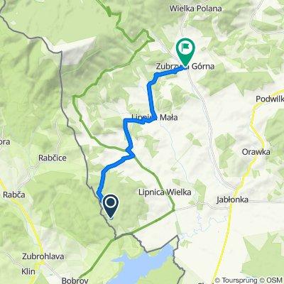 Route to Zubrzyca Górna 327, Zubrzyca Górna