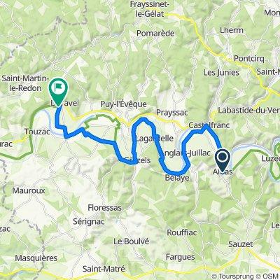 Route de Bessière, Albas naar Combe de Labarre, Duravel