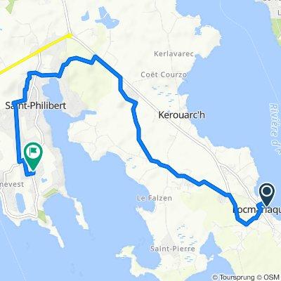 De Cale du Bourg, Locmariaquer à 76B Route des Plages, Saint-Philibert