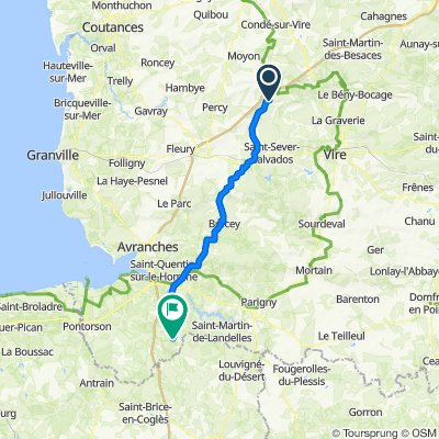 De D306, Pont-Farcy à D570, Montjoie-Saint-Martin