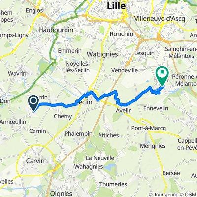 De 34 Rue Sonneville, Allennes-les-Marais à 24 Rue Alfred Cousin, Fretin