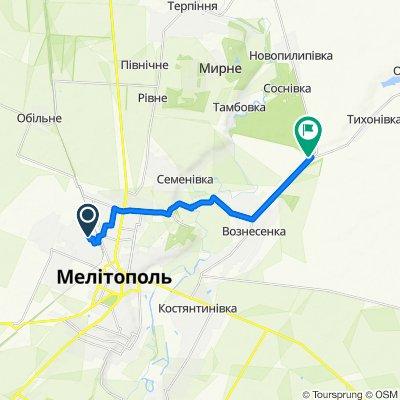 От вулиця Степова 4, Мелітополь до Unnamed Road