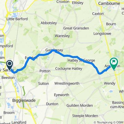 23 King's Road, Sandy to 41–69 Ermine Way, Royston