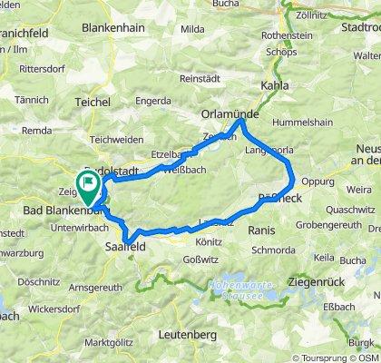2020-07-25: Rudolstadt - Orlamünde - Pößneck - Saalfeld