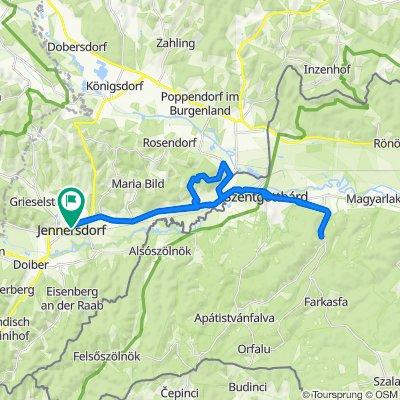 Jennersdorf - Szentgotthárd - Hársas-tó