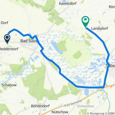 Route von Dorfstraße, Bad Sülze