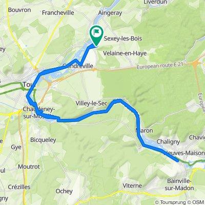 De 3 Rue au Rouge Poirier, Fontenoy-sur-Moselle à 3 Rue au Rouge Poirier, Fontenoy-sur-Moselle