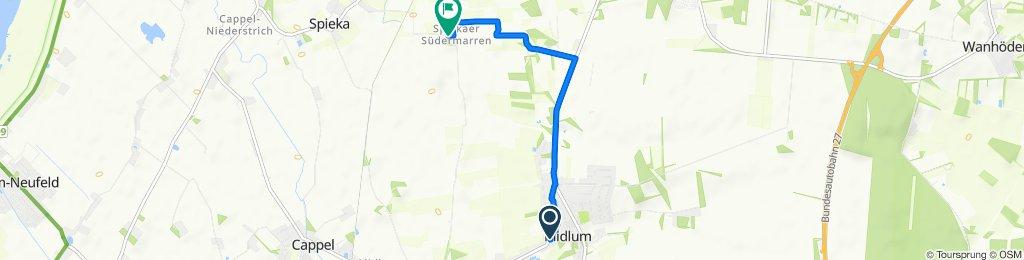Specken 1, Midlum nach Am Groden, Nordholz
