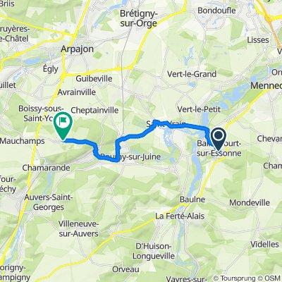 3 Rue Brosset, Ballancourt-sur-Essonne to 43 Grande Rue, Torfou