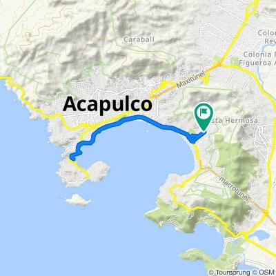 De Calle Hilario Rodríguez Malpica 47, Acapulco a Calle Hilario Rodríguez Malpica 47, Acapulco
