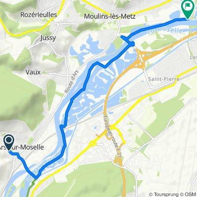De Rue Président Wilson 19, Ars-sur-Moselle à Chemin de la Moselle 7, Scy-Chazelles