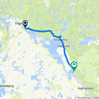 Järnvägstorget 1, Fagersta to Bruksvägen, Virsbo