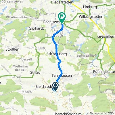 Route nach Hauptstraße 5–5a, Mönchsroth