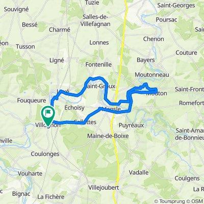 Ballade Charente 35 km