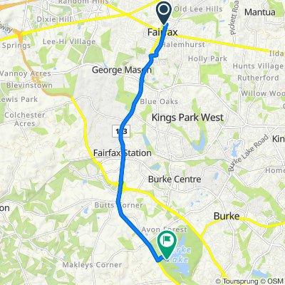 3900 University Dr, Fairfax to 7315 Ox Rd, Fairfax Station