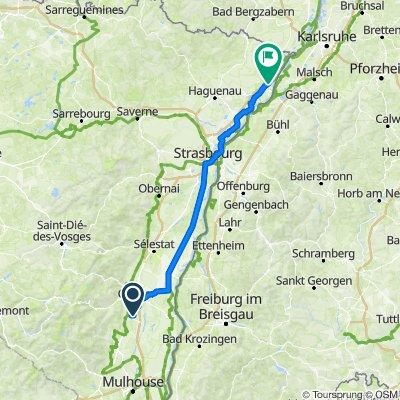 1 Route de Sainte-Croix-en-Plaine, Herrlisheim-près-Colmar do 1 Impasse de la Mairie, Beinheim