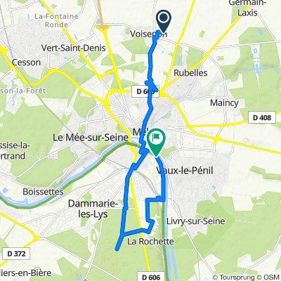 De 30 Rue des Oliviers, Voisenon à 7 Quai du Maréchal Joffre, Melun