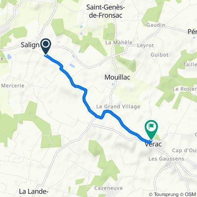 De 16 Chemin de Chabiran, Salignac à D737, Vérac