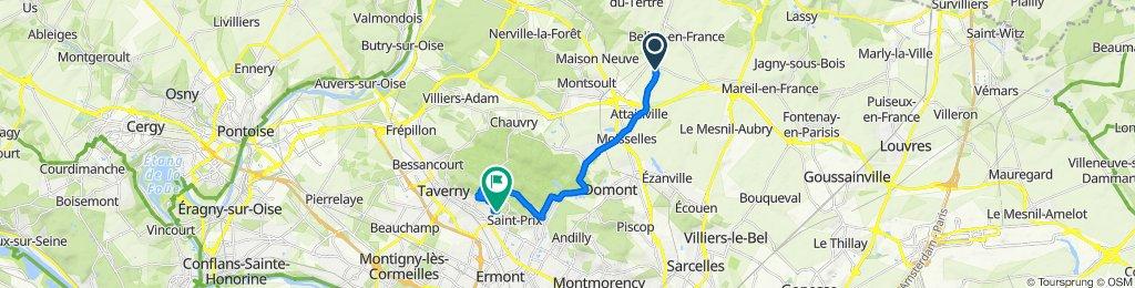 De 4 Rue du Maraîcher, Villaines-sous-Bois à 17 Rue de Diane, Saint-Leu-la-Forêt
