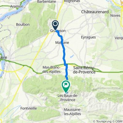 De 4 Rue de Cascaveau, Graveson à D27, Les Baux-de-Provence