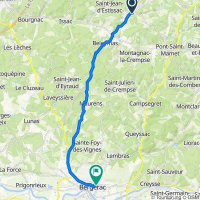 Rue de l'École 16, Villamblard to Avenue de Verdun 23, Bergerac